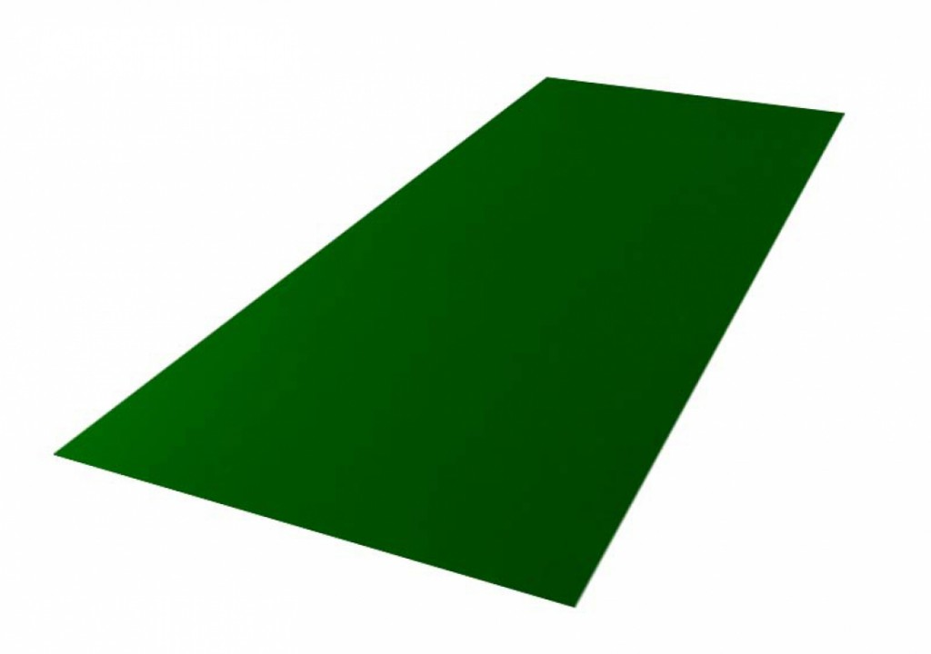Roofing tin plate covered up with the paint 0.50x1250 RAL 6005 WRINKLE