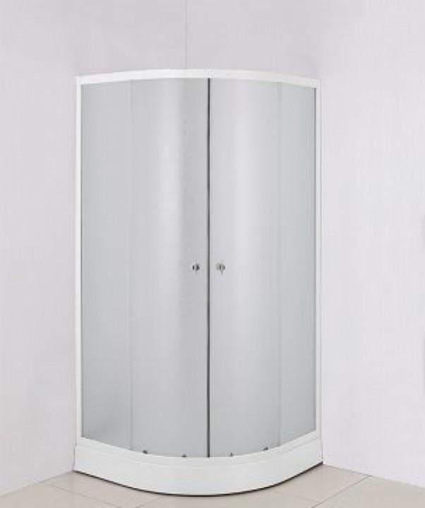 საშხაპე კაბინა - მინის კარები საშხაპე კაბინისთვის,90x90x194 სმ. მინა 5მმ 8120S პლასტმასის პადონი 08120S