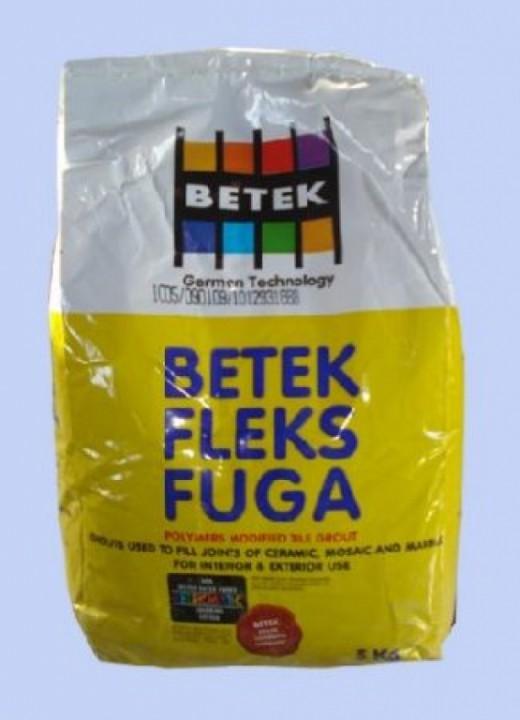 შემავსებელი შემადგენლობაBETEK-FLEKS FUGA/ 5 კგ-იანი პაკეტი