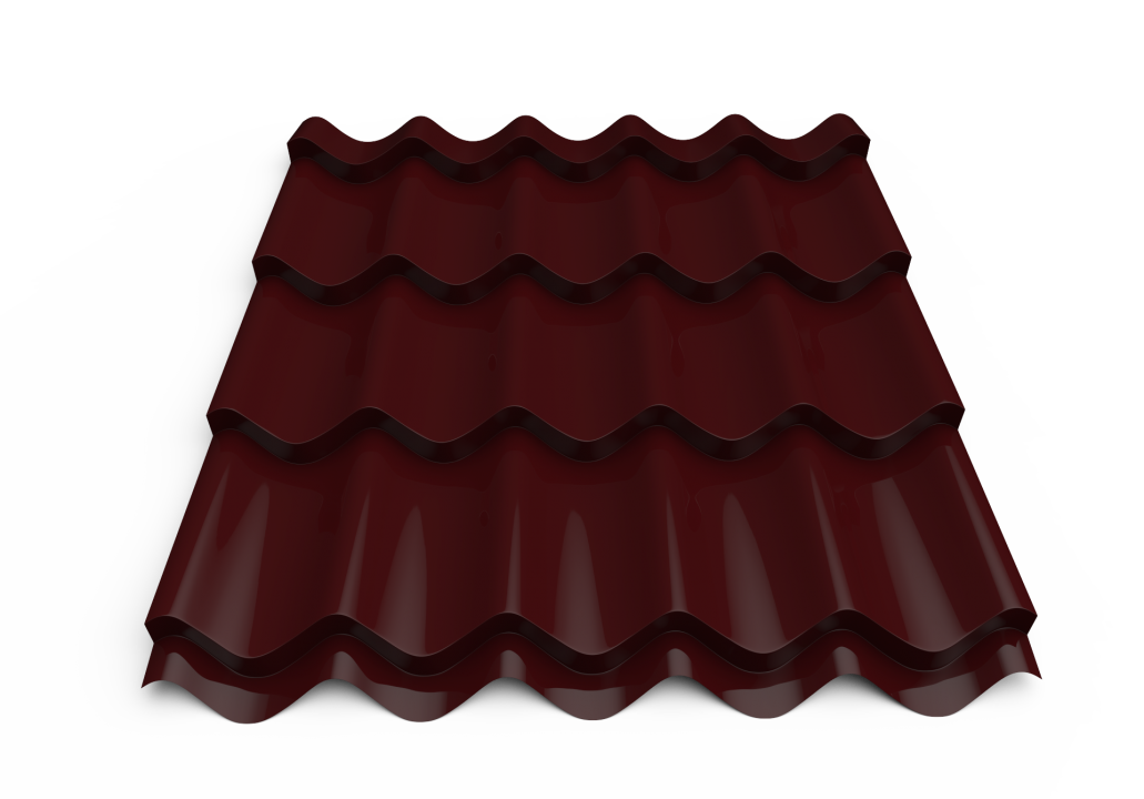 Roofing tin plate covered up with the paint0.40x1180 RAL 3005  (Metal tile)