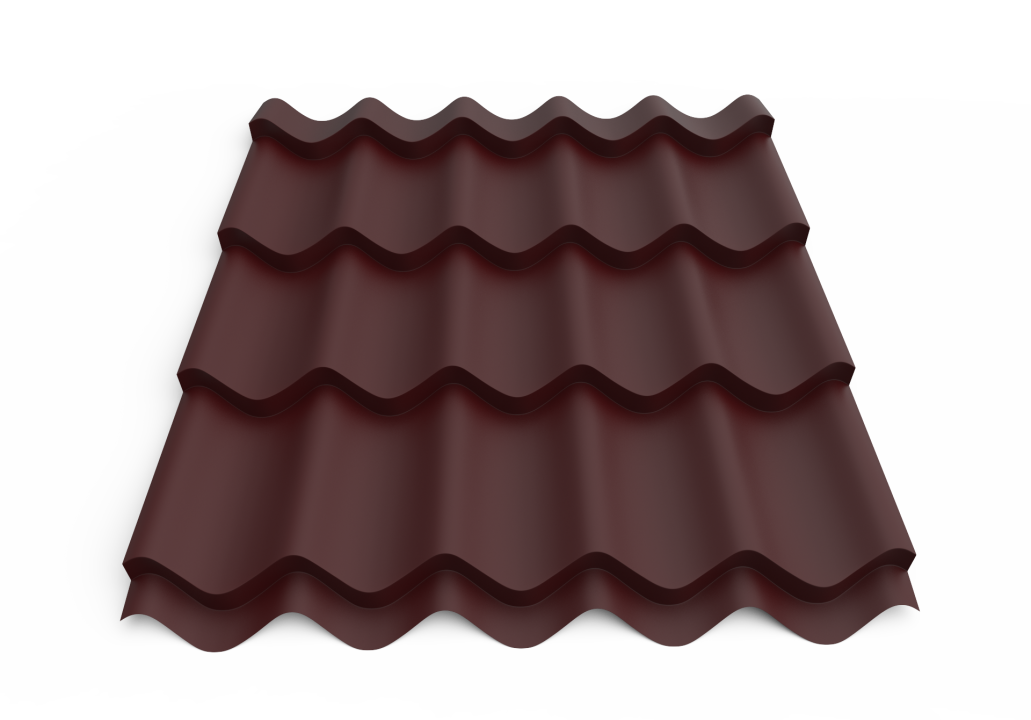 Roofing tin plate covered up with the paint0.50x1180 Metal tile RAL 3005 MATT