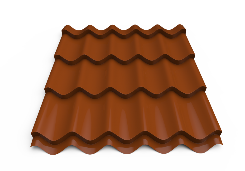 Roofing tin plate covered up with the paint0.50x1180  RAL 8004 (Metal tile)