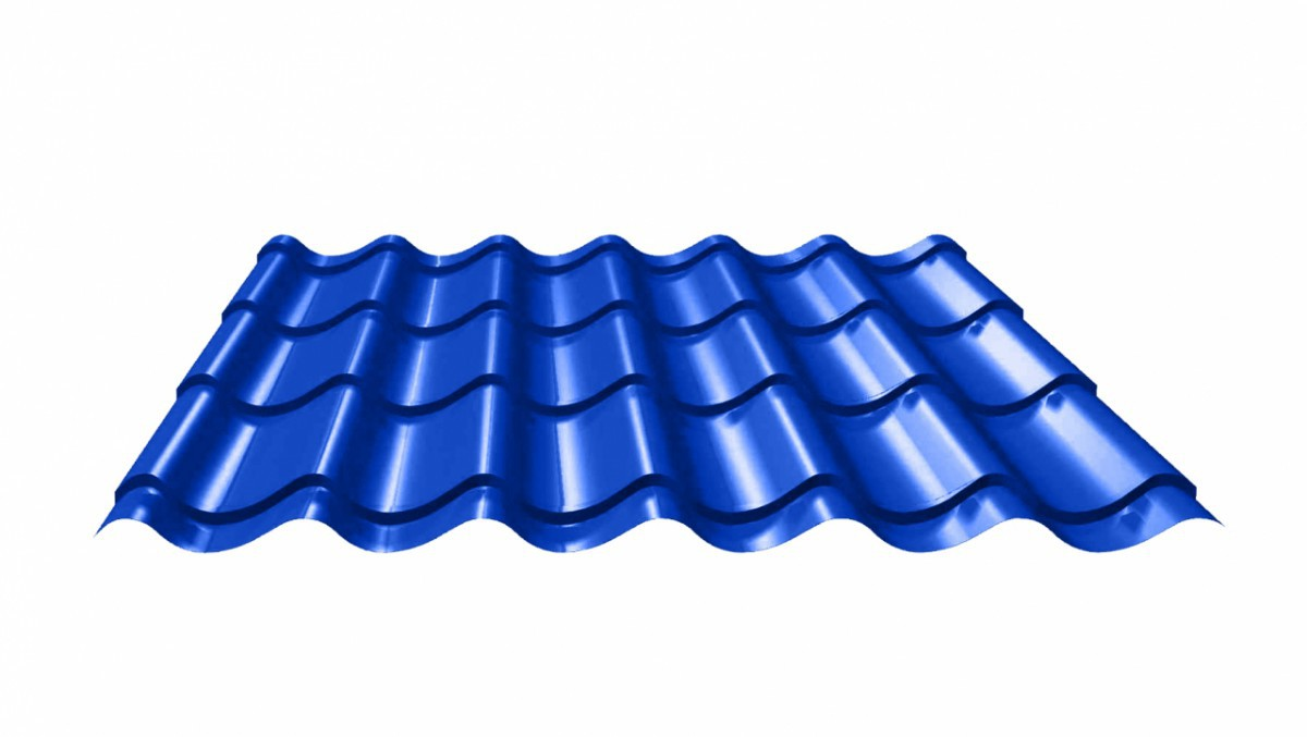 Roofingtin plate covered up with the paint 0.50x1180 RAL 5005 (Metal tile)