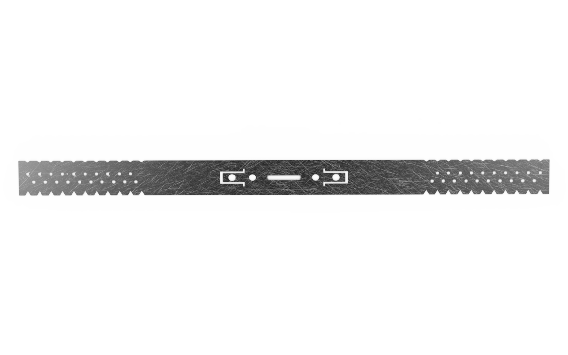 აგრაფი 20 სმ-იანი სიმაღლის (0.80X30X460 მმ მოთუთიებული ნაგლინისაგან)