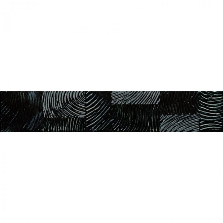 კერამიკული ფილა (კანტი) FINGER BLACK LISTELLO 8X42.5