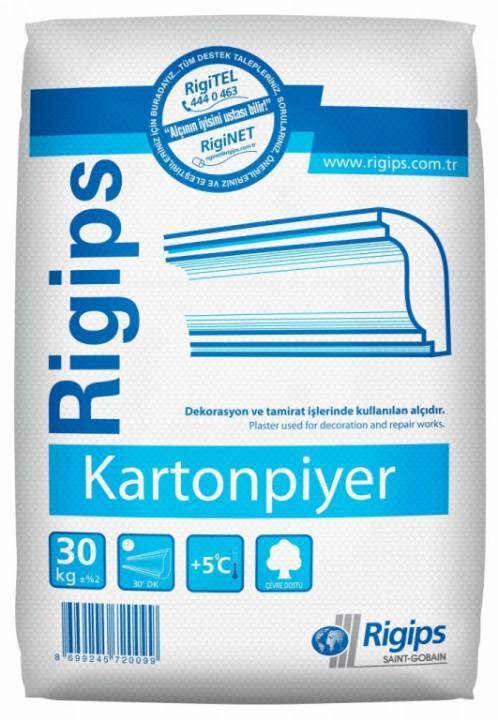 თაბაშირი Rigips kartonpiyer alcisi30 კგ-იანი ტომარა