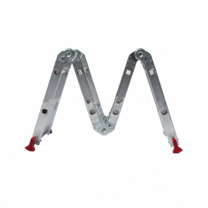 ალუმინის კიბე WG607-250 4*2(1.2mm)
