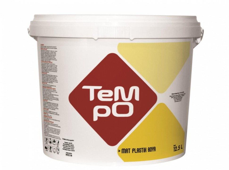 საღებავი TEMPO MAT PLASTIK 6,25 ლტ