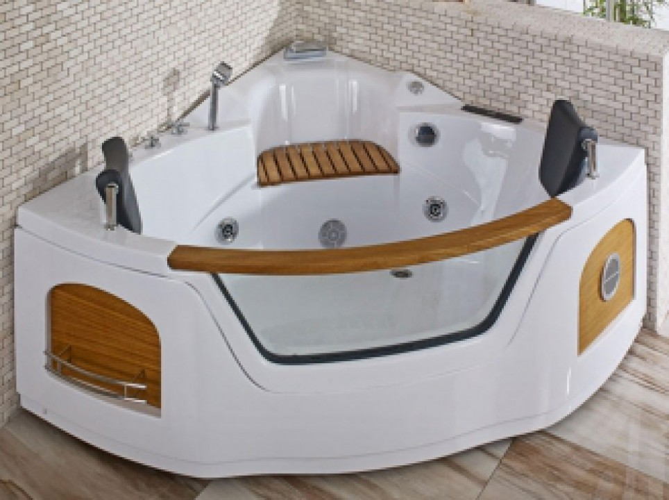 Jacuzzi with hydro-massager EFES I WHITE-135X135X60