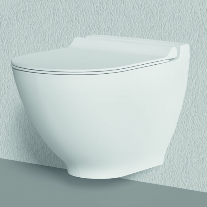 კედლის უნიტაზი HARMONU WALL HUNG WC PAN WATER SPOUT-A WHITE