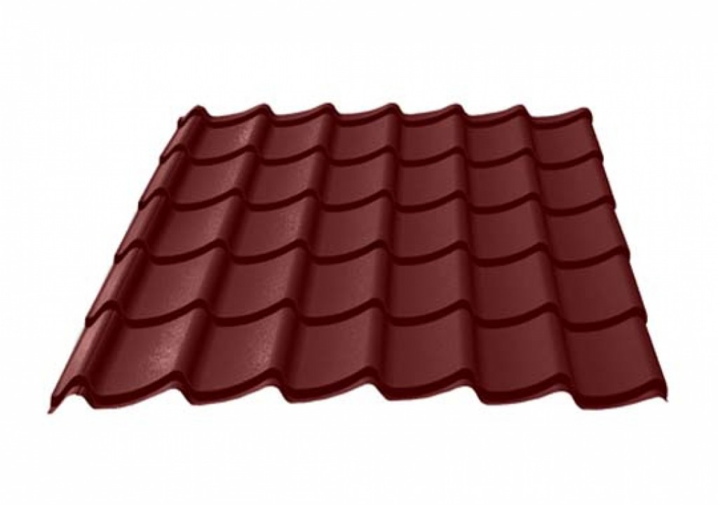Roofing tin plate covered up with the paint 0.50x1200 RAL 8019 WRINKLE (Metal tile)