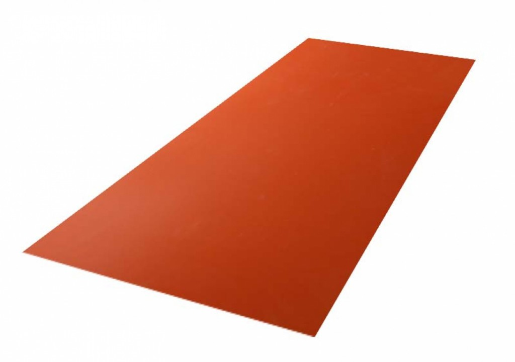 Roofing tin plate covered up with the paint  0.50x1250 RAL 8004 WRINKLE