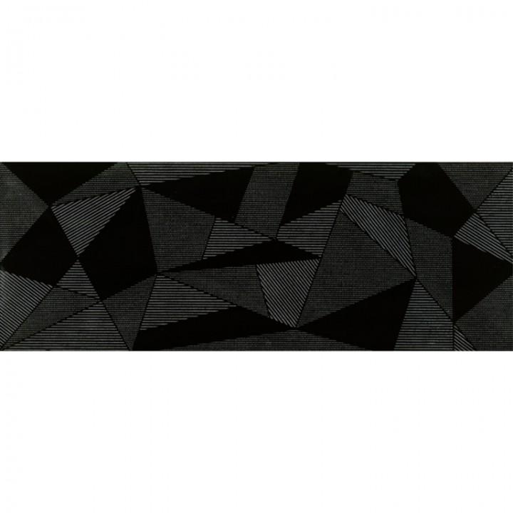 კერამიკული ფილა დეკორი FRACTURE BLACK DEKOR 30X80 REC (293X793)