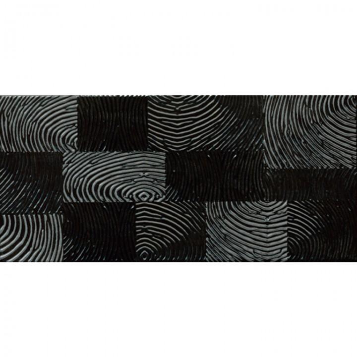 კერამიკული ფილა დეკორი FINGER BLACK DEKOR 20X42.5