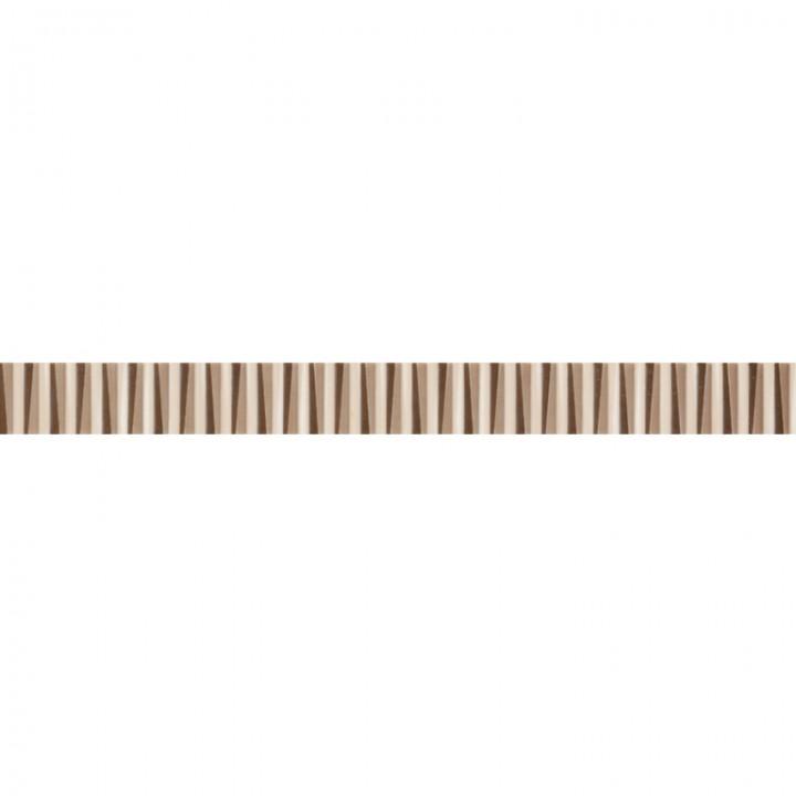 კერამიკული ფილა (კანტი) LINE BONE-BROWN LISTELLO 4X42.5