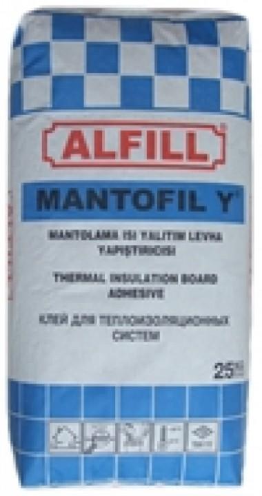 პენოპლასტის ფილის მისაწეპებელი წებო ცემენტი ALFIL MANTOFIL Y 25კგ-იანი ტომარა