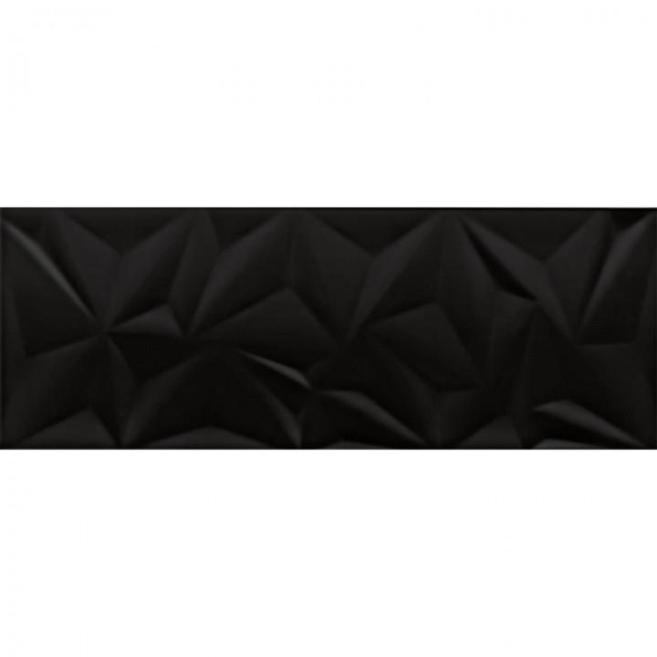 კერამიკული ფილა კაფელიFRACTURE BLACK 30X80 REC (293X793) 1