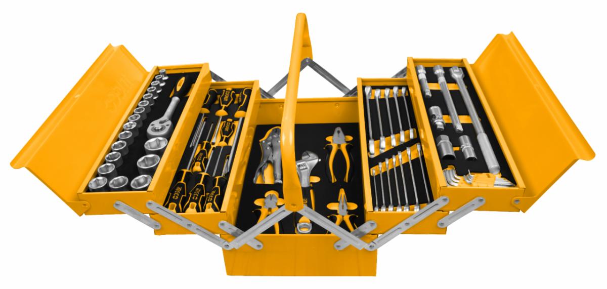 ხელის ინსტრუმენტებისა და ქანჩის გასაღებების ნაკრები 59 ცალი (HTCS15591)