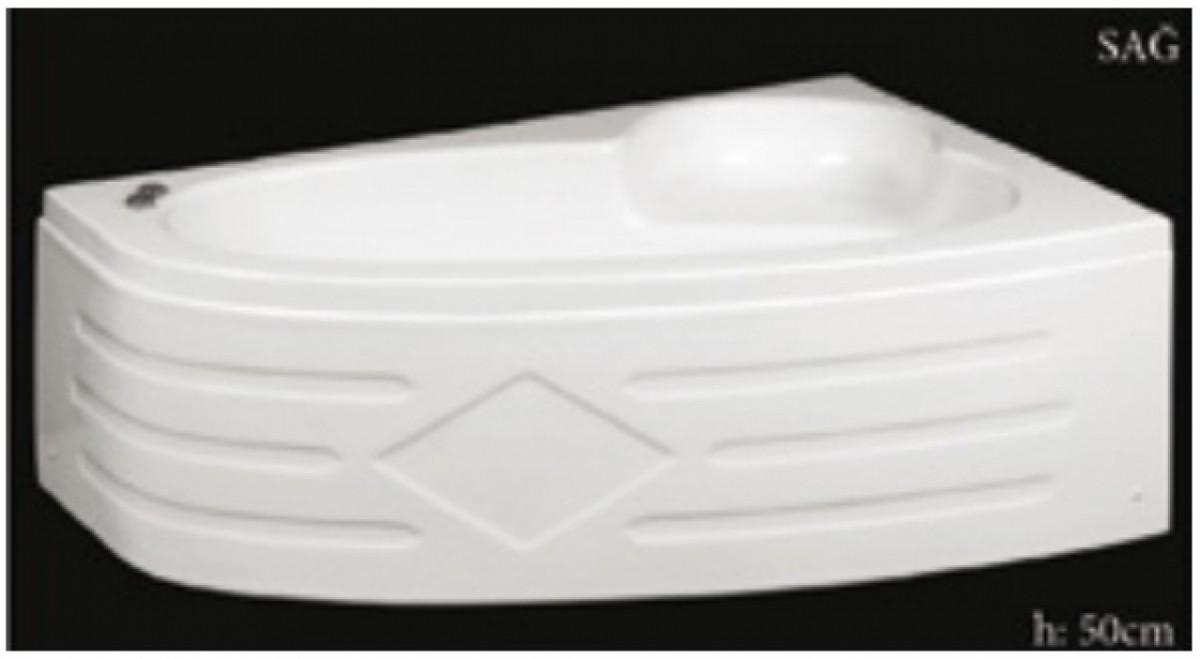 ოვალური აბაზანა მარჯვენა კუთხის150X100