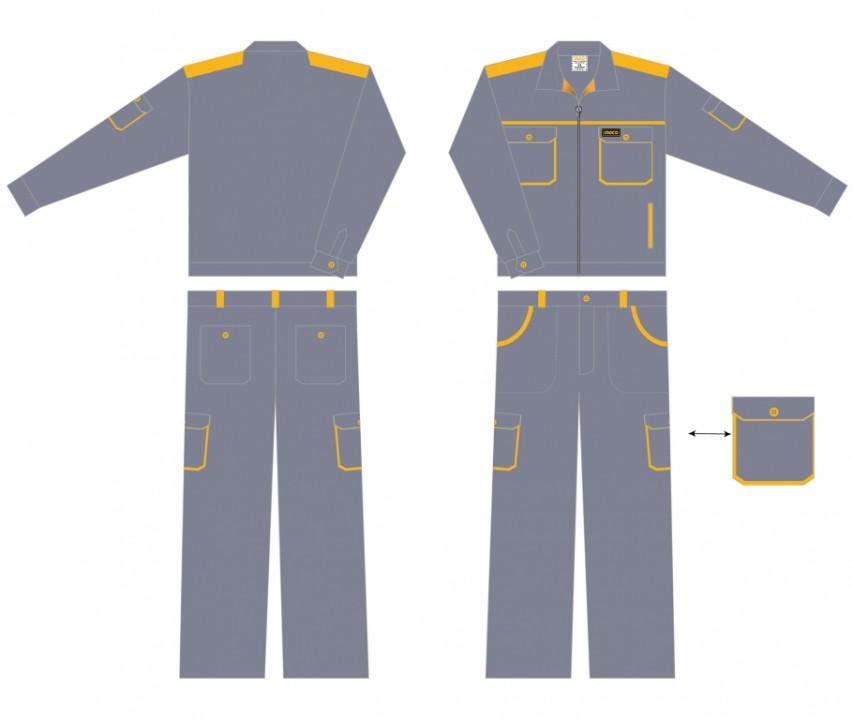 სამუშაო ტანსაცმელი კომპლექტში(wuso1150 XL)
