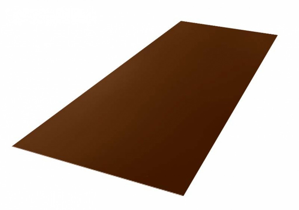 სასახურავე თუნუქის ფურცელი დაფარული საღებავით,ხავოიანი ზედაპირით 0.47X1250 RAL8017 NEOMATT (სამხრეთ კორეა)
