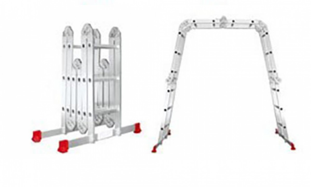 Multi-functional aluminium ladder WG607-486 4*3+2*2(1.2mm)