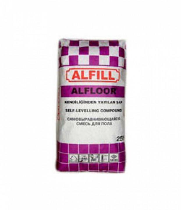 იატაკის თვითსწორებადი მასალა ALFILL ALFLOOR PLUS 10-30 MM 25კგ-იანი ტომარა